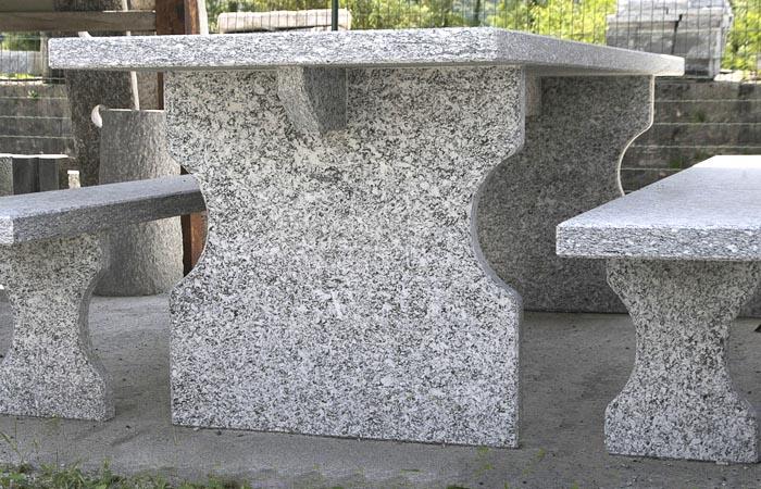 Panchine Da Esterno In Pietra.Tavolo Da Giardino Prini Graniti Shop